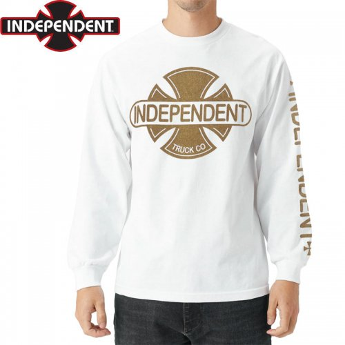【インディペンデント ロングTシャツ】BASEBPLATE L/S TEE【ホワイト】NO17