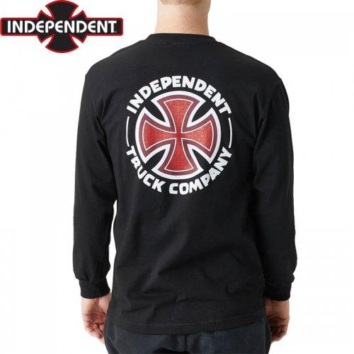【インディペンデント ロングTシャツ】REPEAT CROSS L/S TEE【ブラック】NO20