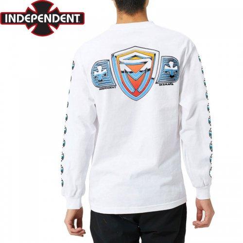 【インディペンデント ロングTシャツ】SK8MAFIA SHIELD L/S TEE【ホワイト】NO23