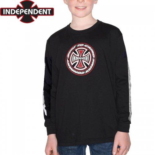 【インディペンデント INDEPENDENT キッズ Tシャツ】T/C BLAZE YOUTH L/S TEE【ブラック】NO22