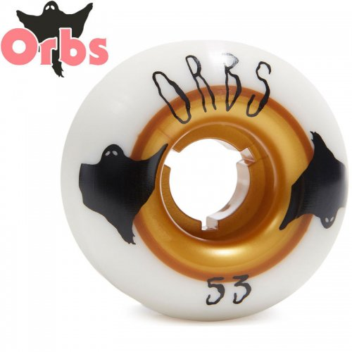 【オーブス ORBS スケボー ウィール】POLTERGEISTS 102A ホワイト/ゴールド【53mm】NO22