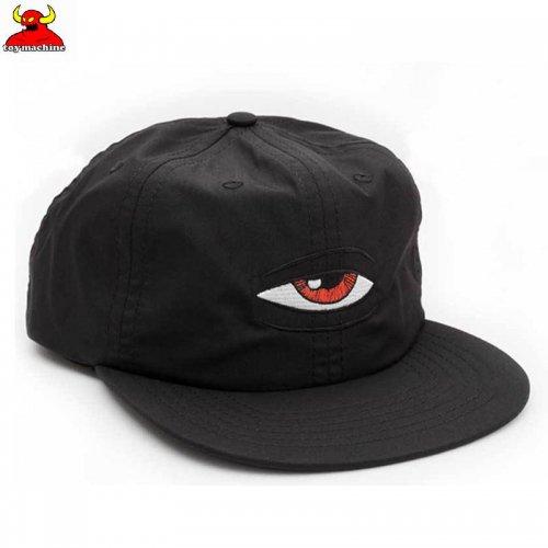 【TOY MACHINE トイマシーン スケボー キャップ】BLOODSHOT SNAPBACK HAT ブラック NO42