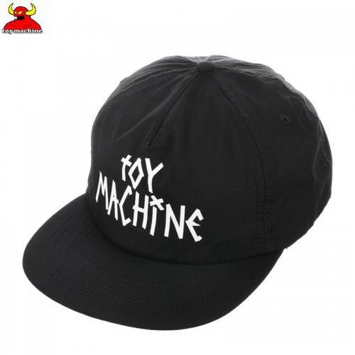 【TOY MACHINE トイマシーン スケボー キャップ】TAPE LOGO SNAPBACK HAT ブラック NO43