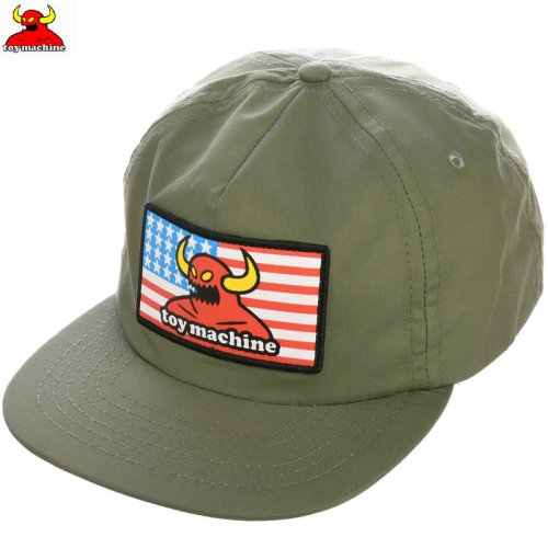 【TOY MACHINE トイマシーン スケボー キャップ】AMERICAN MONSTER SNAPBACK HAT グリーン NO45