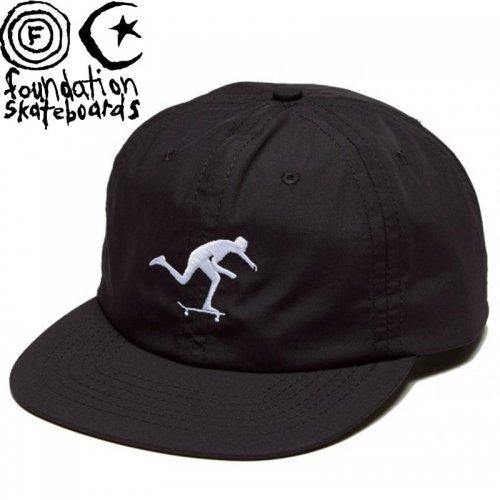 【ファンデーション FOUNDATION スケボー キャップ】 PUSH SNAPBACK HAT NO07 ブラック