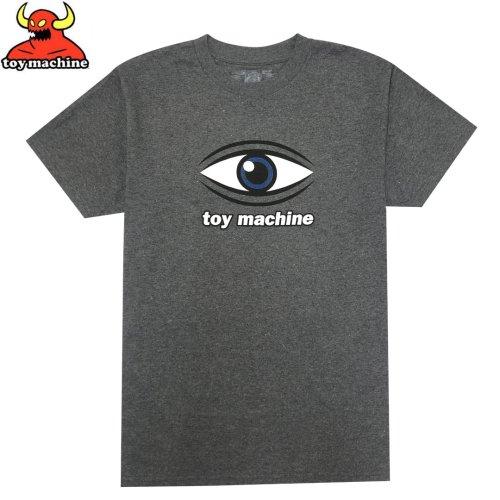 【トイマシーン TOY MACHINE スケボー Tシャツ】EYE TEE【グラファイトヘザー】NO250