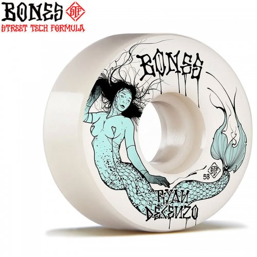 【ボーンズ BONES スケボー ウィール】PRO STF V2 LOCKS DECENZO MERMAID【52mm】【53mm】NO225