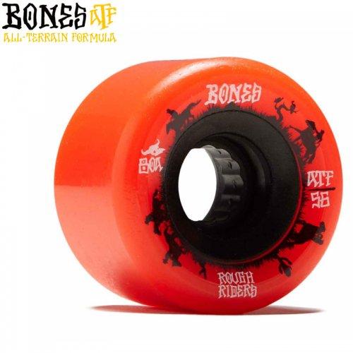 【ボーンズ BONES スケボー ソフトウィール】ATF ROUGH RIDER WRANGLERS 80A レッド【56mm】NO226
