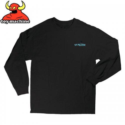 【トイマシーン TOY MACHINE スケボー ロングTシャツ】BIG TAPE L/S T-SHIRT【ブラック】NO05