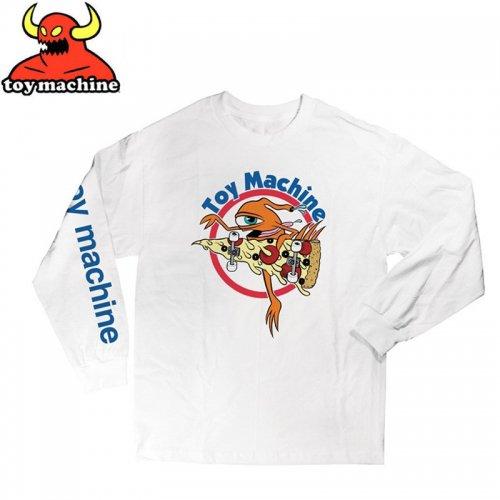【トイマシーン TOY MACHINE スケボー ロングTシャツ】PIZZA SECT L/S T-SHIRT【ホワイト】NO09