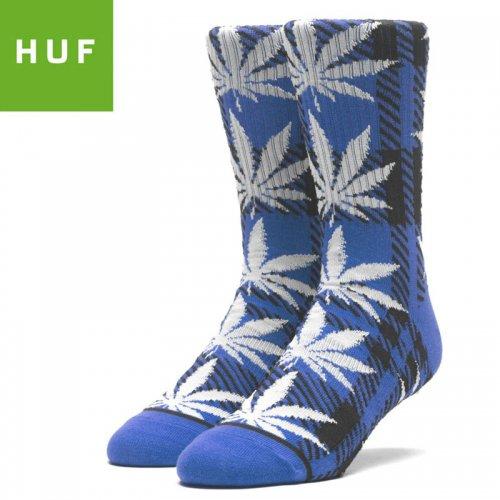 【HUF ハフ スケボー ソックス】靴下 PLAID PLANTLIFE SOCKS ネビュラブルー NO74