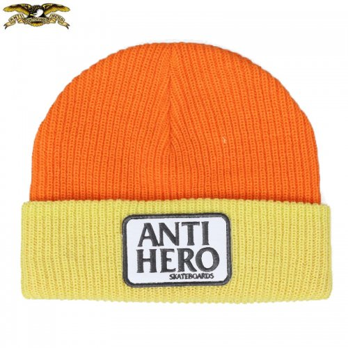 【ANTI HERO アンチヒーロー スケボー】ビーニー RESERVE PATCH CUFF BEANIE NO17