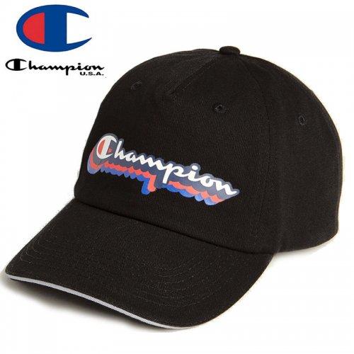 【CHAMPION チャンピオン ベースボールキャップ】SHADOW DAD CAP ブラック NO12