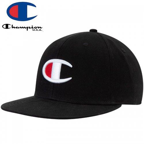 【CHAMPION チャンピオン ベースボールキャップ】BIG C SNAPBACK CAP ブラック NO13