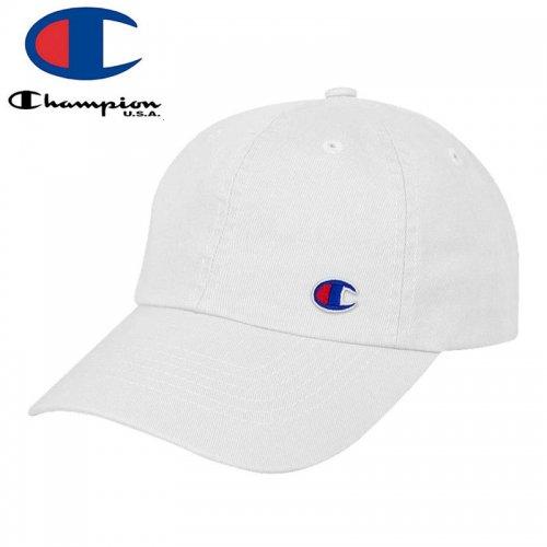 【CHAMPION チャンピオン レディース ベースボールキャップ】FLOW DAD CAP ホワイト NO1