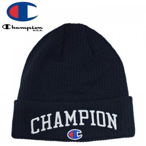【CHAMPION チャンピオン ニットキャップ】WINTER BEANIE HAT ブラック NO2