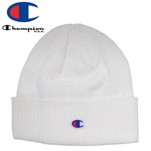 【CHAMPION チャンピオン ニットキャップ】TRANSITION CUFF BEANIE HAT ホワイト NO3