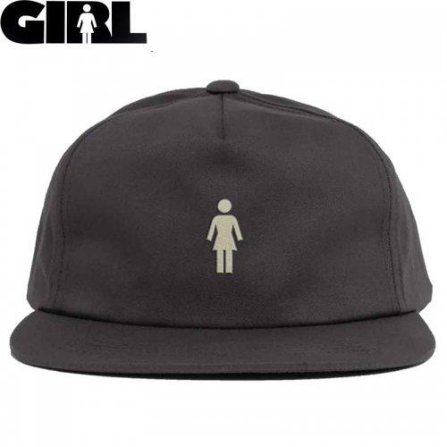 【ガール GIRL スケボー キャップ】MICO OG 5PANEL HAT チャコール NO79