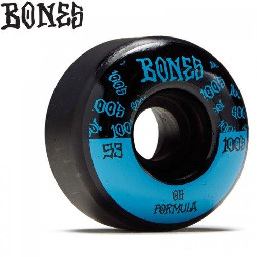 【ボーンズ BONES スケボー ウィール】100#13 BLK O.G. FORMULA V4 100A【53mm】NO228