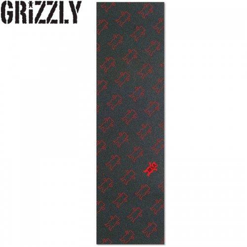 【グリズリー GRIZZLY GRIPTAPE デッキテープ】MSA All OVER PRINT GRIP TAPE レッド 9x33 NO29