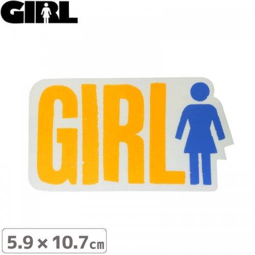 【GIRL ガールスケートボード STICKER ステッカー】LOGO STICKER 5.9cm x 10.7cm NO102