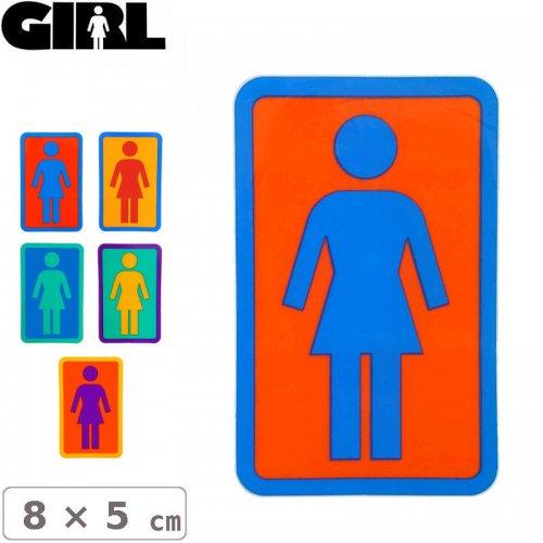 【GIRL ガールスケートボード STICKER ステッカー】BOX LOGO STICKER 8cm x 5cm NO103