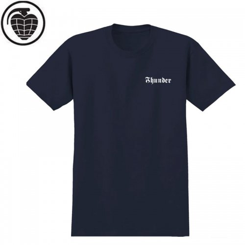 【サンダー THUNDER TRUCKS スケボー Tシャツ】DOUBLE EVIL TEE【ネイビー】NO59