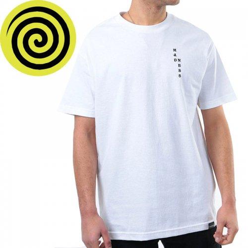 【MADNESS マッドネス スケボー Tシャツ】GREAT GOAT TEE【ホワイト】NO5