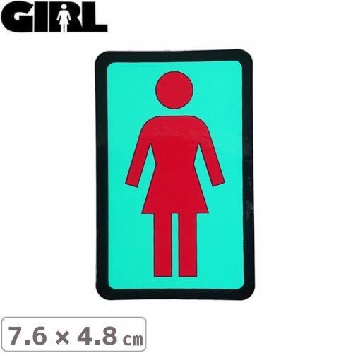 【GIRL ガールスケートボード STICKER ステッカー】BOX LOGO STICKER 7.6cm x 4.8cm NO107