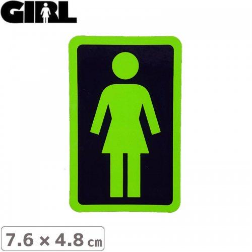 【GIRL ガールスケートボード STICKER ステッカー】BOX LOGO STICKER 7.6cm x 4.8cm NO108