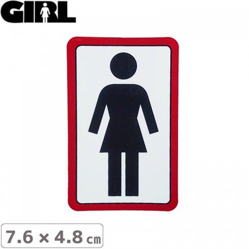 【GIRL ガールスケートボード STICKER ステッカー】BOX LOGO STICKER 7.6cm x 4.8cm NO109