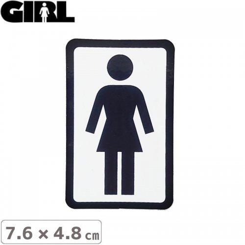 【GIRL ガールスケートボード STICKER ステッカー】BOX LOGO STICKER 7.6cm x 4.8cm NO110