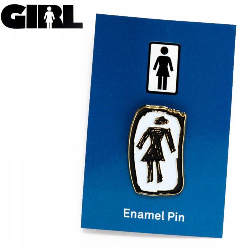 【GIRL ガールスケートボード ピンバッチ】SKETCHY OG ENAMEL PIN NO7
