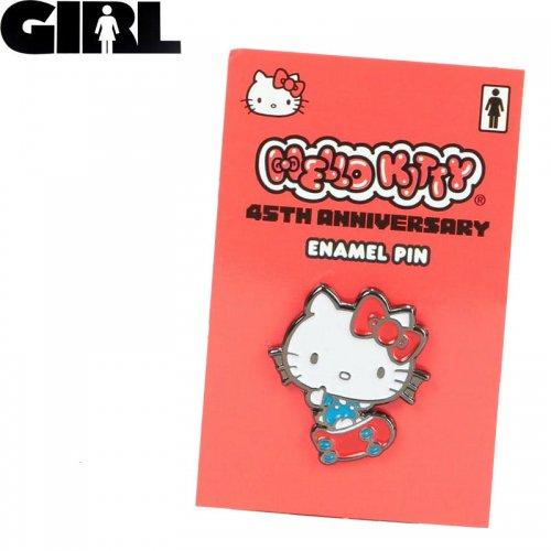 【GIRL ガールスケートボード ピンバッチ】HELLO KITTY ENAMEL PIN ハローキティ NO9