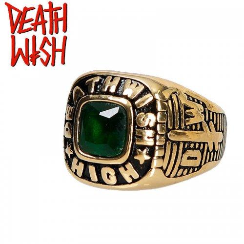 【デスウィッシュ DEATHWISH スケボー 指輪】HIGH RING【ゴールド】ファッションリング NO4
