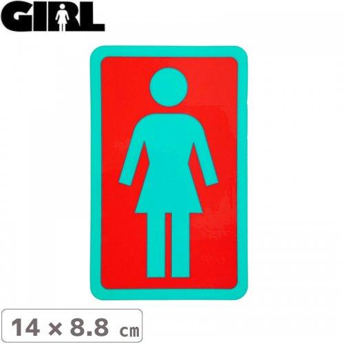 【GIRL ガールスケートボード STICKER ステッカー】BOX LOGO STICKER 14cm x 8.8cm NO111