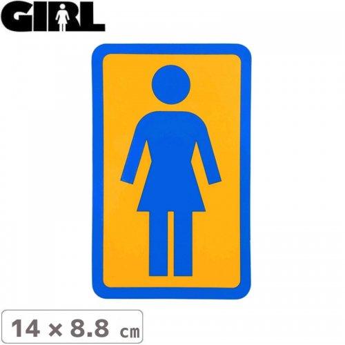 【GIRL ガールスケートボード STICKER ステッカー】BOX LOGO STICKER 14cm x 8.8cm NO112