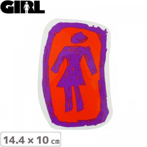 【GIRL ガールスケートボード STICKER ステッカー】LOGO STICKER 14.4cm x 10cm NO113