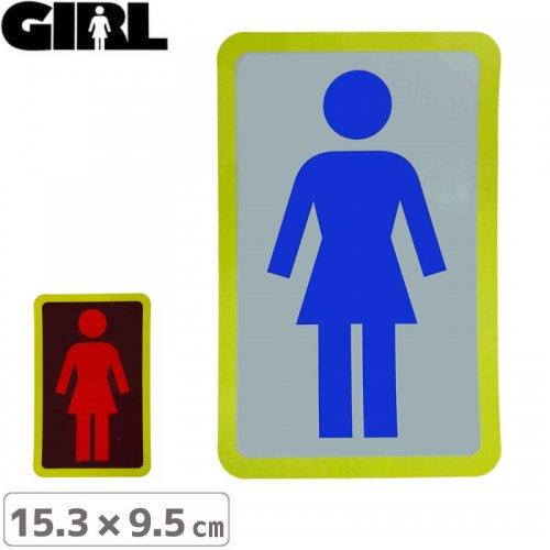 【GIRL ガールスケートボード STICKER ステッカー】BOX LOGO STICKER 15.3cm x 9.5cm NO114