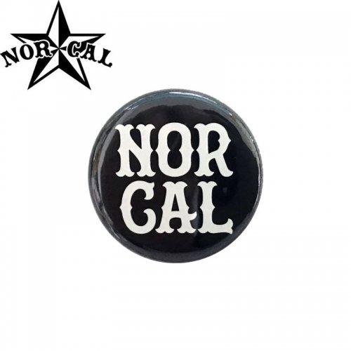 【ノーカル NOR CAL スケボー バッヂ】1-1/4 BUTTON 缶バッチ NORCAL 3cm ブラック NO1