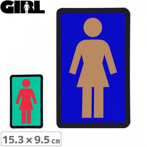 【GIRL ガールスケートボード STICKER ステッカー】BOX LOGO STICKER 15.3cm x 9.5cm NO115