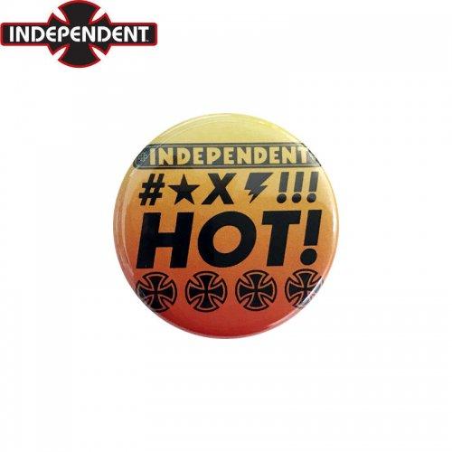 【INDEPENDENT インディペンデント スケボー バッヂ】1-1/4 BUTTON 缶バッチ HOT 3cm オレンジ フェード NO6