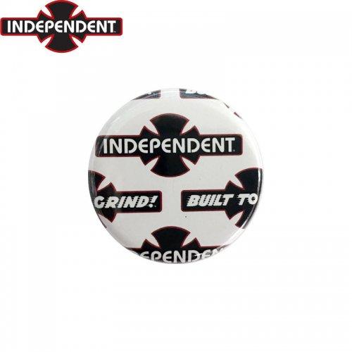 【INDEPENDENT インディペンデント スケボー バッヂ】1-1/4 BUTTON 缶バッチ OGBC 3cm ホワイト/ブラック NO7
