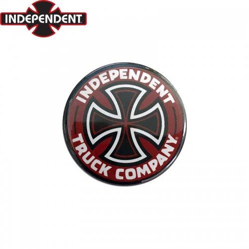 【INDEPENDENT インディペンデント スケボー バッヂ】1-1/4 BUTTON 缶バッチ T/C 3cm レッド NO9