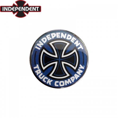 【INDEPENDENT インディペンデント スケボー バッヂ】1-1/4 BUTTON 缶バッチ T/C 3cm ブルー NO10