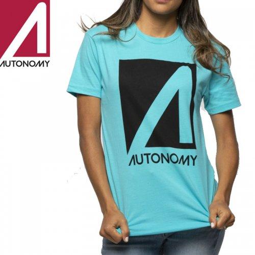 【オートノミー AUTONOMY レディース Tシャツ】NO COMPLY TEE【タヒチブルー】NO3