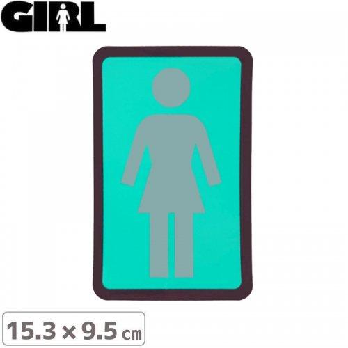 【GIRL ガールスケートボード STICKER ステッカー】BOX LOGO STICKER 15.3cm x 9.5cm NO116