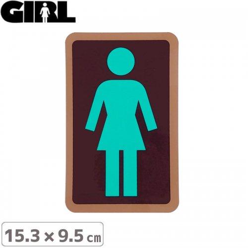 【GIRL ガールスケートボード STICKER ステッカー】BOX LOGO STICKER 15.3cm x 9.5cm NO117