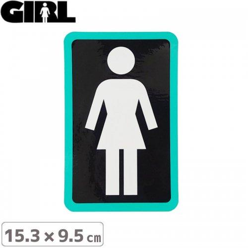 【GIRL ガールスケートボード STICKER ステッカー】BOX LOGO STICKER 15.3cm x 9.5cm NO119