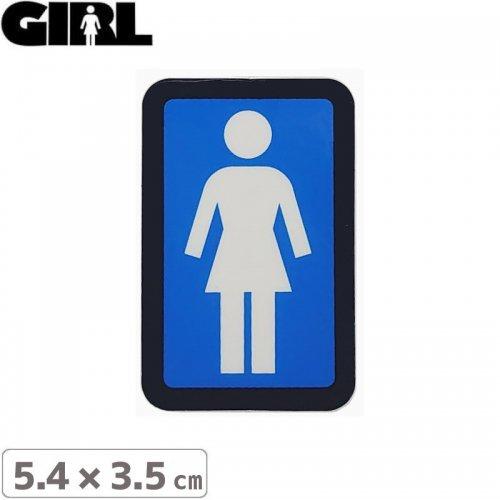 【GIRL ガールスケートボード STICKER ステッカー】BOX LOGO STICKER 5.4cm x 3.5cm NO120